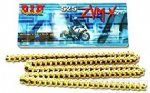 Street 900 Twin (30 Bhp Upgrade) DID ZVMx (ZVM2) 525-102L Extreme Heavy Duty X-Ring Gold Chain Kit.